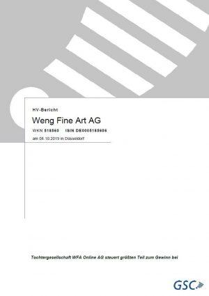 Weng Fine Art Ag Hv Bericht 2019 10 08 Deckblatt